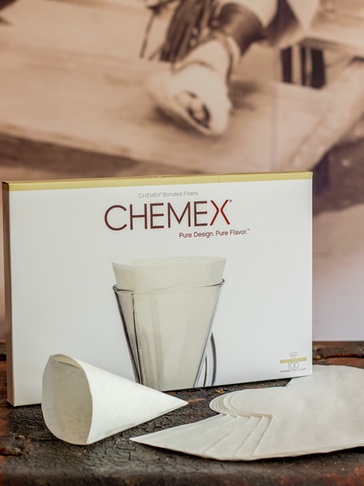 Chemex bonded filters unfolded