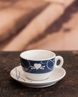 CoffeePirates cappuccino cup and saucer